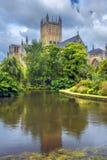 Mana la catedral, Somerset, Inglaterra Fotografía de archivo