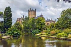 Mana la catedral, Somerset, Inglaterra Imagen de archivo