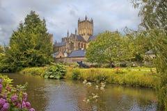 Mana la catedral, Somerset, Inglaterra Fotografía de archivo libre de regalías