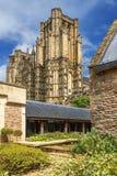 Mana la catedral, Somerset, Inglaterra Imágenes de archivo libres de regalías