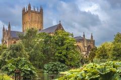 Mana la catedral, Somerset, Inglaterra Foto de archivo libre de regalías