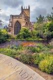 Mana la catedral, Somerset, Inglaterra Imagen de archivo libre de regalías