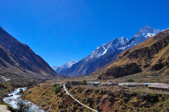 Mana village. This is a small village in Badrinath known as Mana Stock Photos