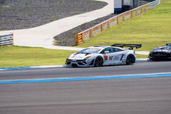 Manabu Orido of JLOC in Super GT Final Race Warm Up Lap at 2015 Stock Photos