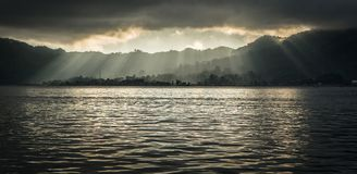 Manado, портовый район Индонезии Стоковые Фотографии RF