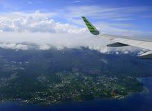 Manado aéreo, Indonesia Fotografía de archivo libre de regalías