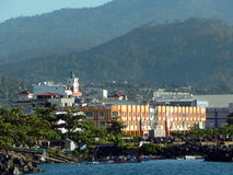 Manado city in afternoon Stock Images