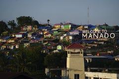 Manado residencial denso Imagen de archivo