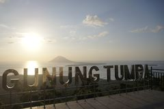 Manado Tua van de Mening van Gunung Tumpa Royalty-vrije Stock Afbeelding