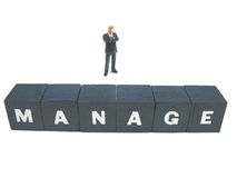 Manage. A manager managing his business royalty free stock images