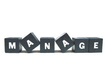 Manage. The word manage spelled out stock image
