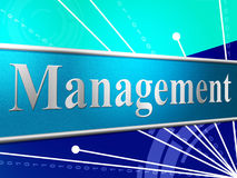 Manage Management Represents Authority Manager And Boss Stock Photo