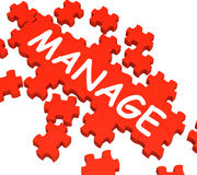 Manage Puzzle Shows Company Supervising Royalty Free Stock Photo