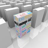 Manage Risk Package Box Choose Best Security Safety Option Royalty Free Stock Images