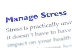 Manage stress. Title about manage stree and meaning royalty free stock image
