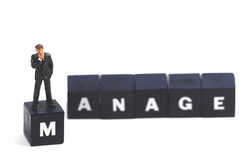 Manage your business. A manager trying to manage his business royalty free stock photos