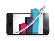 Manage your business on your phone. Royalty Free Stock Images