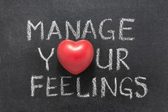 Manage your feelings heart Stock Photo