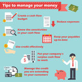 Manage your money infographics Royalty Free Stock Photo