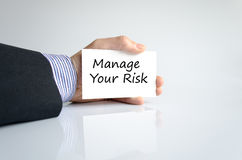 Manage your risk text concept Royalty Free Stock Image