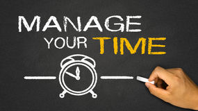 Manage your time. On blackboard royalty free stock images