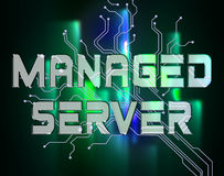 Managed Server Indicates Computer Servers And Connectivity Royalty Free Stock Photo