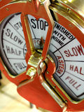 Management. Old power indicator for ship showing stop Royalty Free Stock Photography