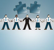 Management. Business Illustration: businesspeople, corporation, management Royalty Free Stock Images