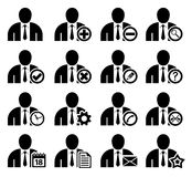 Management and administration icons. Set of management and administration icons Stock Photography