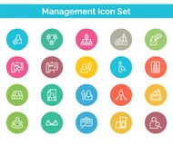 Management Icon SET Vector illustration. Management Analytics Icon SET Vector illustration Vector Illustration. Easy TO use 100% vector design and vector file Royalty Free Stock Photos