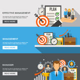 Management Banner Set Stock Images