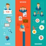 Management Banner Set Stock Images