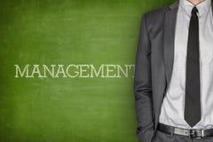 Management on blackboard Stock Photo