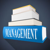 Management Book Represents Bosses Company And Directorate Royalty Free Stock Photos