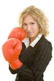 Management with boxing gloves Royalty Free Stock Image