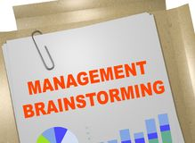 MANAGEMENT BRAINSTORMING concept. 3D illustration of MANAGEMENT BRAINSTORMING title on business document Royalty Free Stock Photo