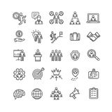 Management Business Black Thin Line Icon Set. Vector. Management Business Black Thin Line Icon Set for Web and App Symbol of Human Marketing Job. Vector Stock Images