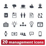Management, Business, Corporation Icons Collection royalty free illustration