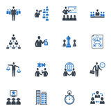 Management and Business Icons - Blue Series. Set of 16 management and business icons, great for presentations, web design, web apps, mobile applications or any Stock Image