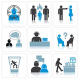 Management and Business Icons Stock Images