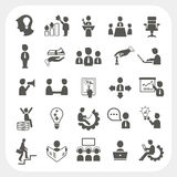 Management and Business icons set. EPS10, Don't use transparency Royalty Free Stock Photography