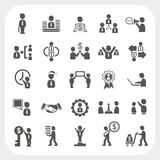 Management and Business icons set Stock Photography