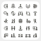Management and Business icons set Stock Images