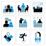 Management and Business Icons. Vector Set Stock Photos