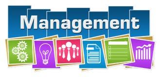 Management Business Symbols Colorful Squares Stripes Stock Photo