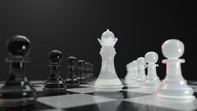 Management in chess Royalty Free Stock Image