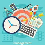 Management Concept Banner. Vector management concept illustration banner. Square composition Royalty Free Stock Image