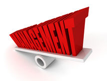 MANAGEMENT concept word on balance Royalty Free Stock Photo