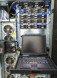 Management console in enterprise server Stock Image