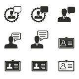 Management consulting icon set. Management consulting vector icons set. Black illustration isolated on white background for graphic and web design Royalty Free Illustration
